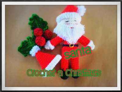 How to Crochet Santa. Christmas, SANTA,Crochet a Christmas.Free Pattern.