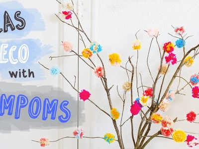 How to decorate with pompoms | Easy DIY Room Decor