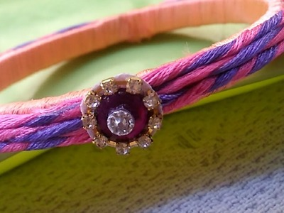 How to design a silk thread wrapped bangle