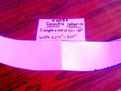 HOW TO DRAFT CONVERTILE COLLAR