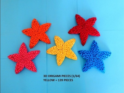 How to make 3d origami Star (Christmas decoration)