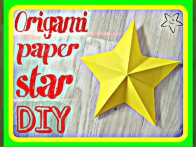 How to make a 3D origami paper stars for simple Christmas decoration ideas for kids