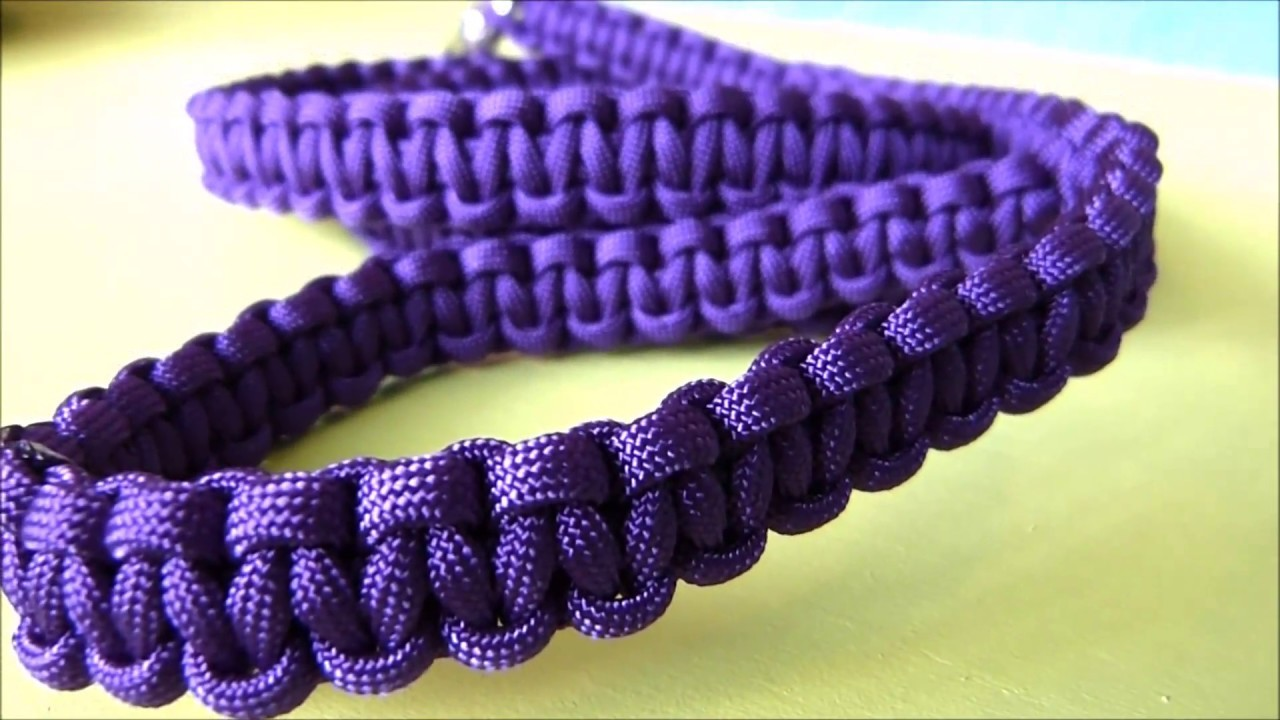 How to make a 4ft paracord cobra weave dog leash easy tutorial