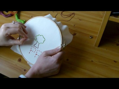 How to make a embroidered tree