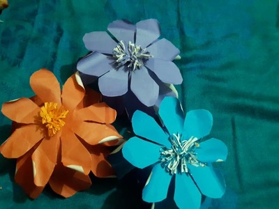 How to make a flower with paper,Kagojer full design,