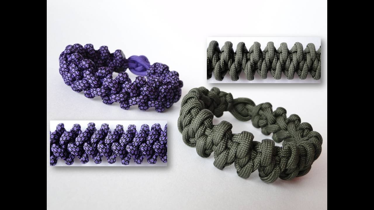 How to Make a Komodo Claw and Tooth Reversible Paracord Survival Bracelet. Diamond Knot and Loop