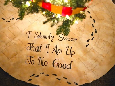 How To Make A Marauder's Map Harry Potter Christmas Tree Skirt!