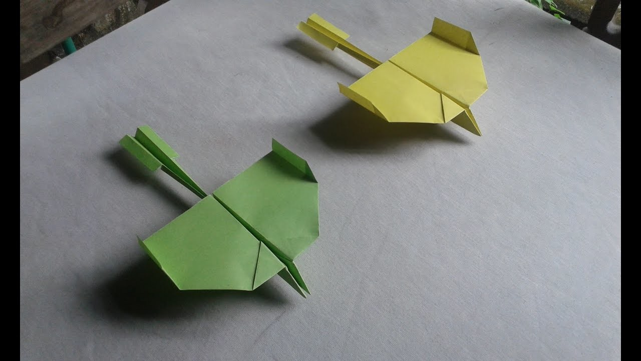 How to make a Paper Airplane   Best flying paper airplane   Paper airplane that flies far and straig