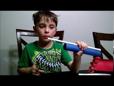 How to make a paper mini gun (EASY)