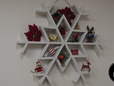 How to Make a Snowflake Shelf | Christmas Project!
