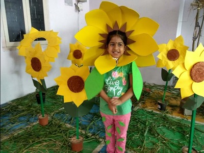 HOW TO MAKE A SUNFLOWER MASK | MAKE YOUR OWN SUNFLOWER FACE MASK