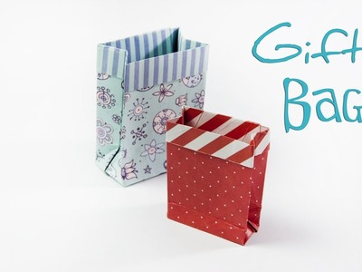 How to Make an Origami Gift Bag - DIY: Paper Mini Gift Bag