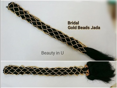 How to make Bridal Gold Beads Jada | Tutorial