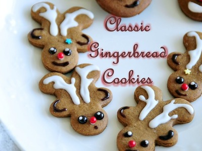 How to Make Classic Gingerbread Christmas Cookies 3 ways