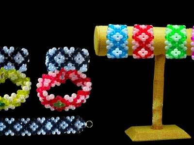 How To Make Crystal Beaded Bracelet At Home || Beaded Bracelet Making Tutorials