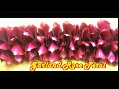 How to make Garland Rose petals|Easy Method Making garland Rose Petals