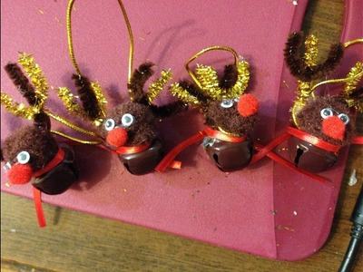 How to Make Homemade Christmas Reindeer Decorations for the tree