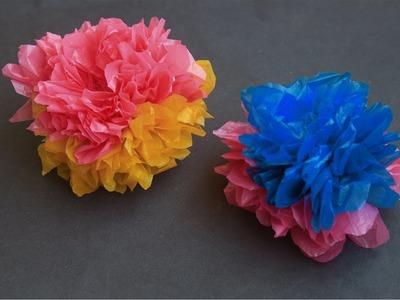 How to Make Plastic Bag Flowers In Creative Arts By Srujana TV