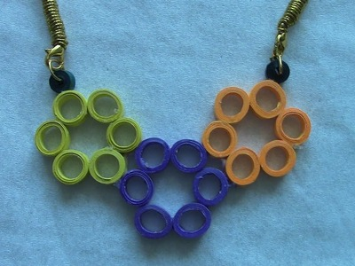 How to Make Quilling Necklace Tutorial. Design 2
