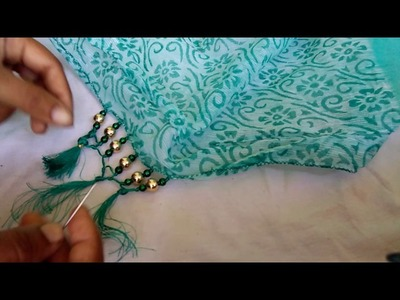 How to make Saree tassels.kucchu desing with beads
