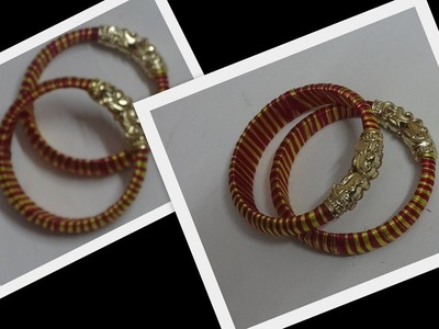 How to make silk thread two color kadas designer bangles