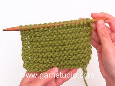 How to work garter stitch back and forth