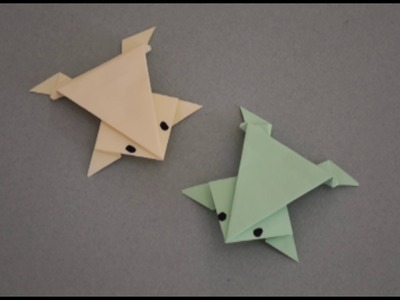 Origami - Frog I Animals I How to fold a paper frog