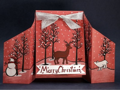 Pop Up Christmas Cards- DIY Christmas Pop Up Standing Cards