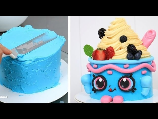 SHOPKINS CAKE Yo-Chi The Frozen Yogurt   How To Make by CakesStepbyStep