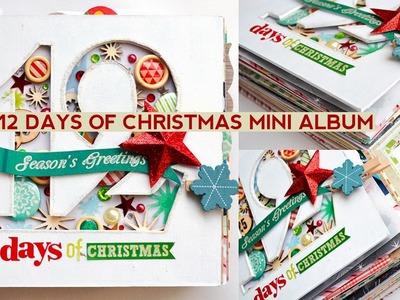 12 Days of Christmas Mini Album Flip Through