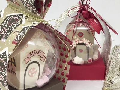"""""""29"""" Sleeps Till Christmas - Heart Box Wrap for Clear Baubles with Stampin' Up!"""