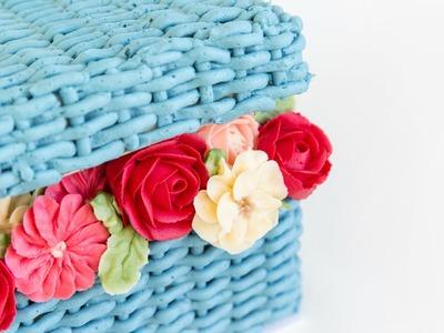 Beautiful FLOWER BASKET Cake Decorating! - CAKE STYLE