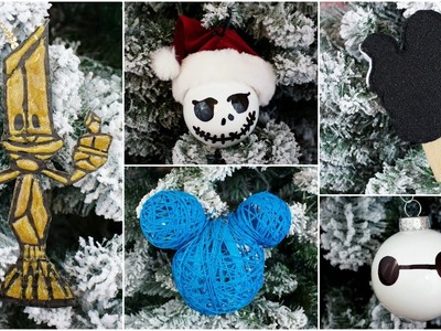 CHEAP & EASY DIY DISNEY CHRISTMAS ORNAMENTS | PINTEREST INSPIRED