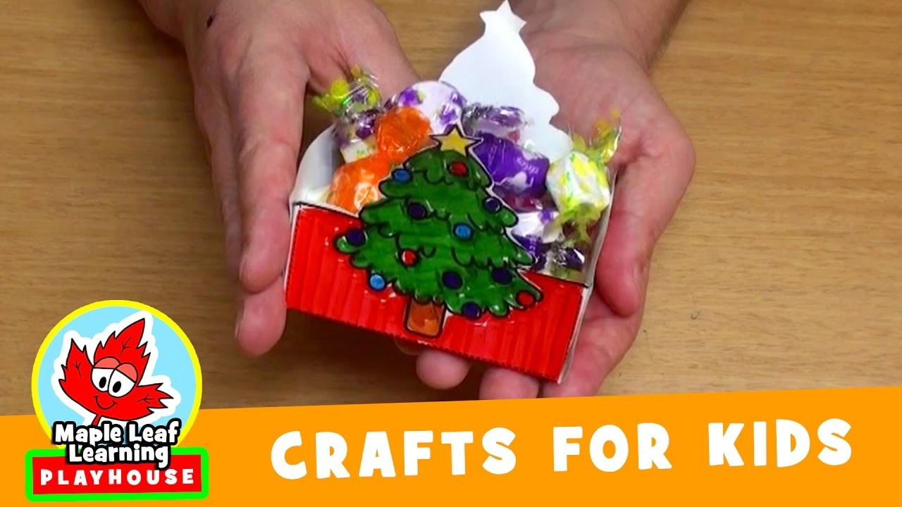 Christmas Basket Craft for Kids | Maple Leaf Learning Playhouse
