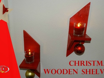Christmas pallets shelves. How to. DIY