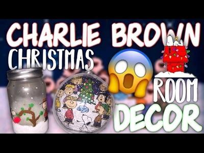 DIY: CHARLIE BROWN CHRISTMAS DECOR | DIY CHRISTMAS ROOM DECOR | HOLIDAY ROOM DECOR
