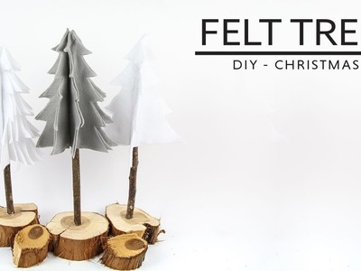 DIY Chirstmas -  Felt Trees | Arbolitos de Fieltro