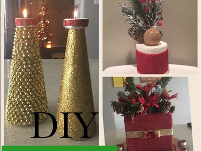DIY Dollar tree Christmas decorations | decoraciones de navidad|stylebyyoli