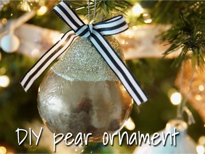 DIY Dollar Tree Glam Pear Ornament! | Christmas 2016