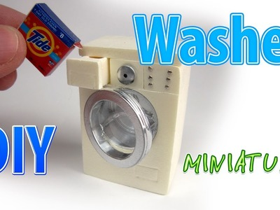 DIY Realistic Miniature Washer | DollHouse | No Polymer Clay!