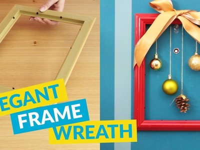 DIY Wreath From A Picture Frame!