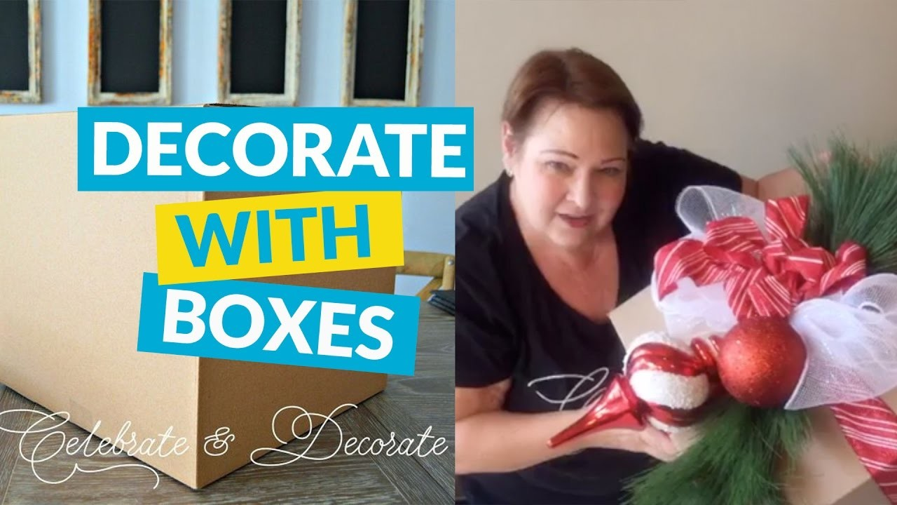 Dollar Store Christmas Decorations With Cardboard Boxes