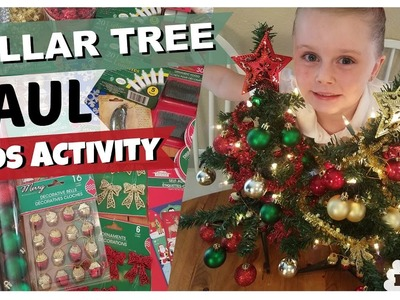 DOLLAR TREE Christmas HAUL + FUN KIDS ACTIVITY!