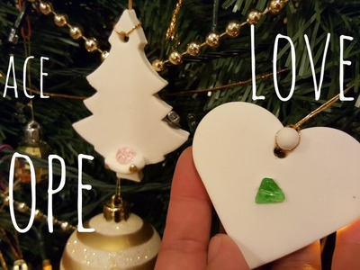 Easy Christmas Tree Decorations - Cold Porcelain Clay without Glue