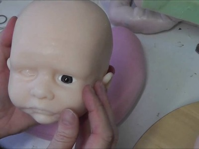 Fitting Eyes in Silicone Baby Doll