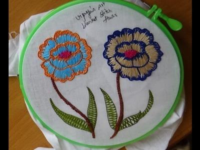 Hand Embroidery Designs # 169 - blanket flower designs