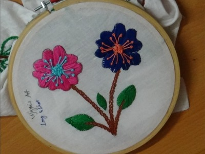 Hand Embroidery Designs # 180 - Long & short stitch designs