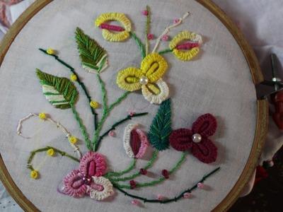 Hand Embroidery Designs | Caston stitch | Stitch and Flower-90