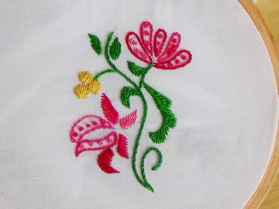 Hand Embroidery: French Knot Stitch (Filling)