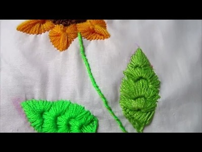 Hand Embroidery Buttonhole Bar Leaves